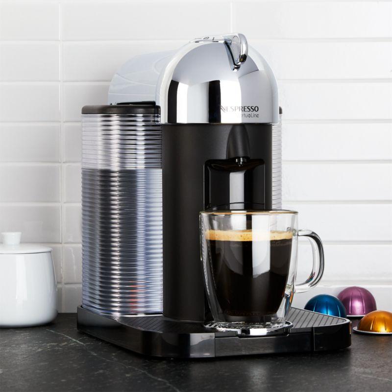 Nespresso VertuoLine Chrome Coffee-Espresso Maker Crate and Barrel