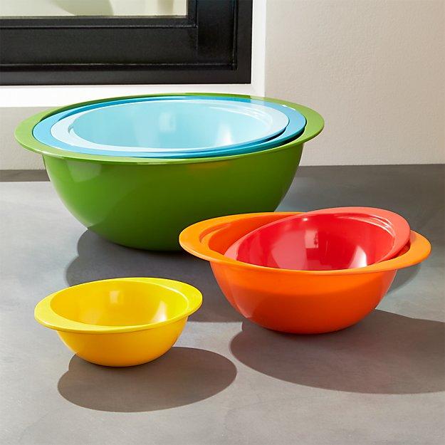 Set of 6 Nesting Melamine Bowls