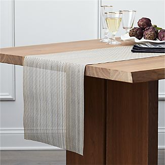 Chilewich ® Neutral Stripe Vinyl Table Runner