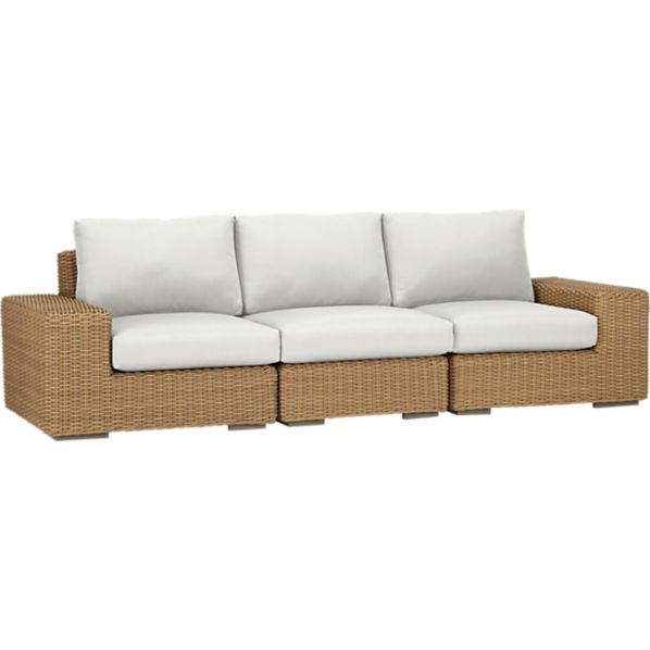 Newport 3-Piece Sectional with Sunbrella ® White Sand Cushions