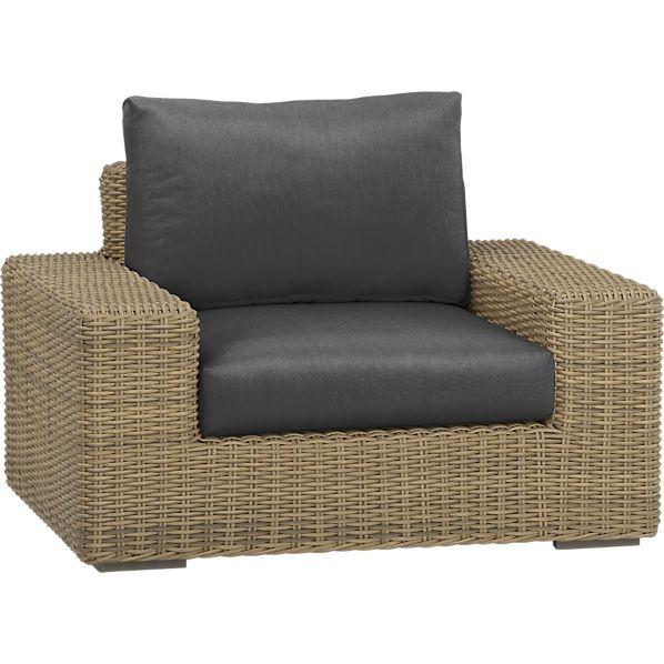 Newport Lounge Chair with Sunbrella ® Charcoal Cushions