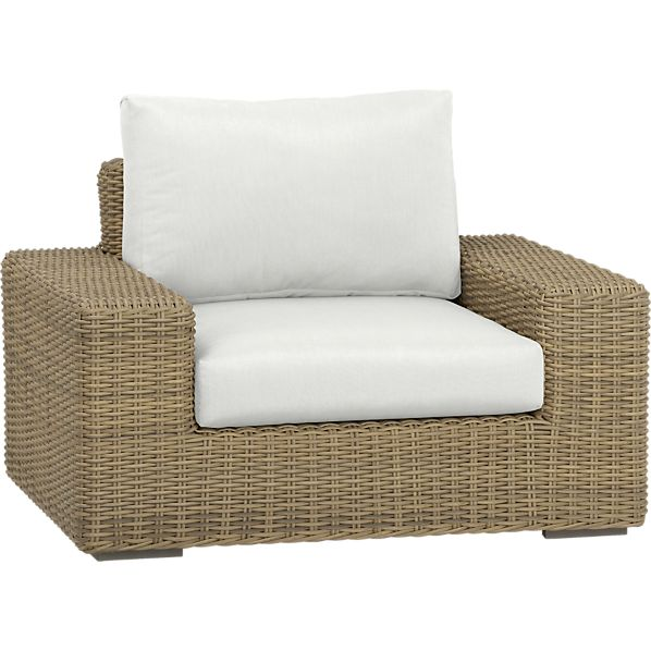 Newport Lounge Chair with Sunbrella ® White Sand Cushions