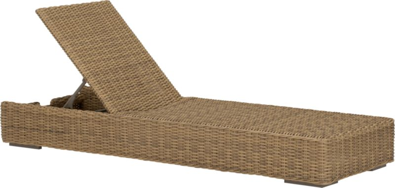 Low-slung and lounge-worthy, our Newport collection extends a welcome invitation to kick back and relax. Modern, squared profiles mix and match to suit your space, handwoven in a contemporary, chunky weave of eco-friendly, care-free resin wicker neatly wrapped over clean aluminum frames with a taupe powdercoat finish. Sleek chaise adjusts to five positions, including flat.<br /><br /><NEWTAG/><ul><li>Handwoven</li><li>100% recyclable polyethylene resin wicker</li><li>Aluminum frame with powdercoat finish</li><li>UV-resistant</li><li>Adjusts to five positions, including flat</li><li>Cover or store inside during inclement weather</li><li>For indoor or outdoor use</li><li>Made in Indonesia</li></ul>