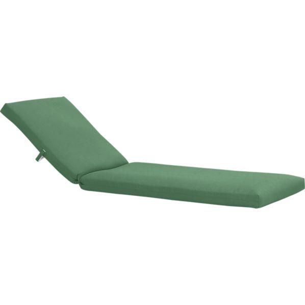 Newport Sunbrella ® Bottle Green Chaise Lounge Cushion
