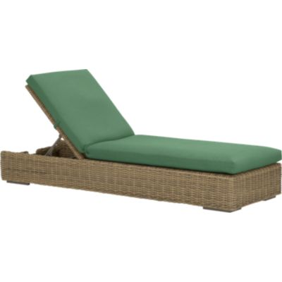 Newport Chaise Lounge with Sunbrella® Bottle Green Cushion