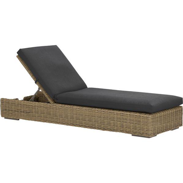 Newport Chaise Lounge with Sunbrella ® Charcoal Cushion