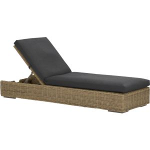 Newport Chaise Lounge with Sunbrella® Charcoal Cushion