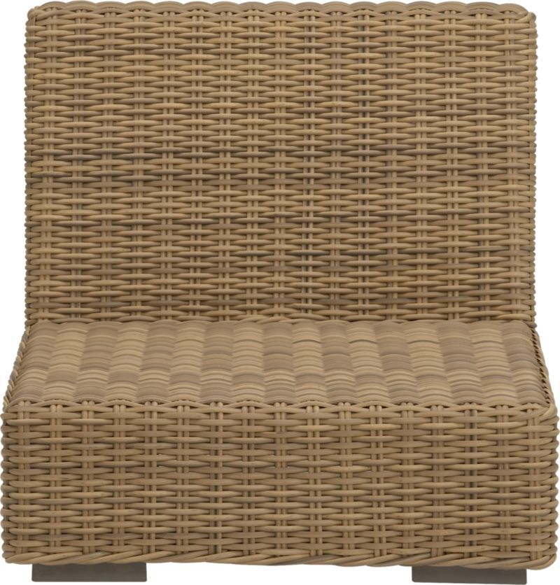 Low-slung and lounge-worthy, our Newport collection extends a welcome invitation to kick back and relax. Modern, squared profiles mix and match to suit your space, handwoven in a contemporary, chunky weave of eco-friendly, care-free resin wicker neatly wrapped over clean aluminum frames with a taupe powdercoat finish.<br /><br /><NEWTAG/><ul><li>Handwoven</li><li>100% recyclable polyethylene resin wicker</li><li>Aluminum frame with powdercoat finish</li><li>UV-resistant</li><li>Cover or store inside during inclement weather</li><li>For indoor or outdoor use</li><li>Made in Indonesia</li></ul>