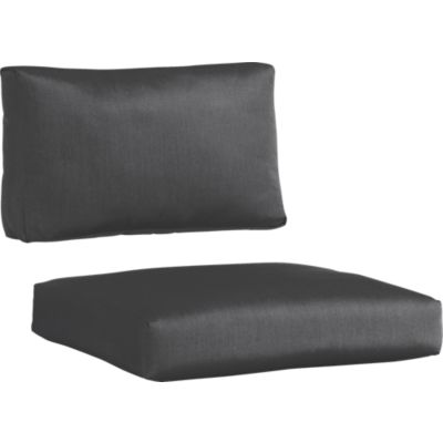 Sunbrella® Charcoal Modular Armless Chair Cushions