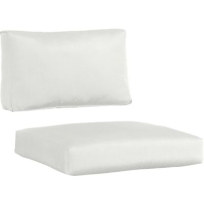 Sunbrella® White Sand Modular Armless Chair Cushions