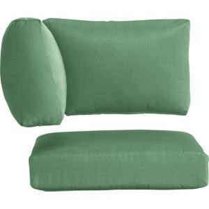 Newport Sunbrella® Bottle Green Modular Corner Cushions