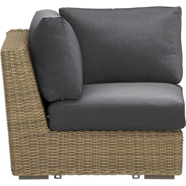 Newport Modular Corner with Sunbrella ® Charcoal Cushions