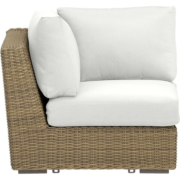 Newport Modular Corner with Sunbrella ® White Sand Cushions
