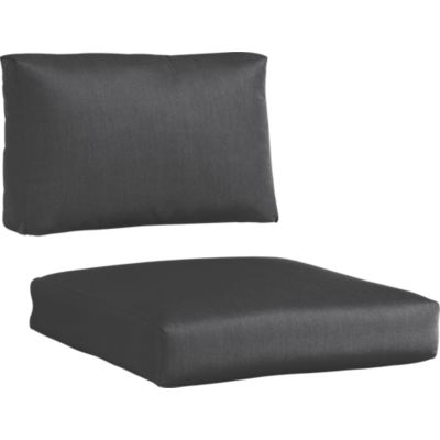 Sunbrella® Charcoal Lounge Chair Cushions