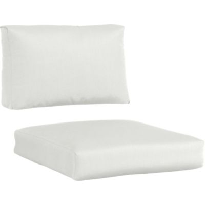 Sunbrella® White Sand Lounge Chair Cushions