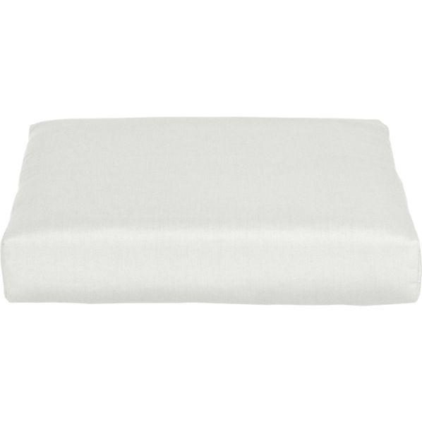 Newport Sunbrella ® White Sand Modular Ottoman Cushion