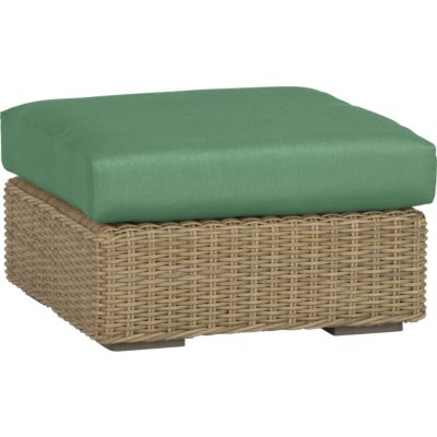 Newport Ottoman with Sunbrella® Bottle Green Cushion