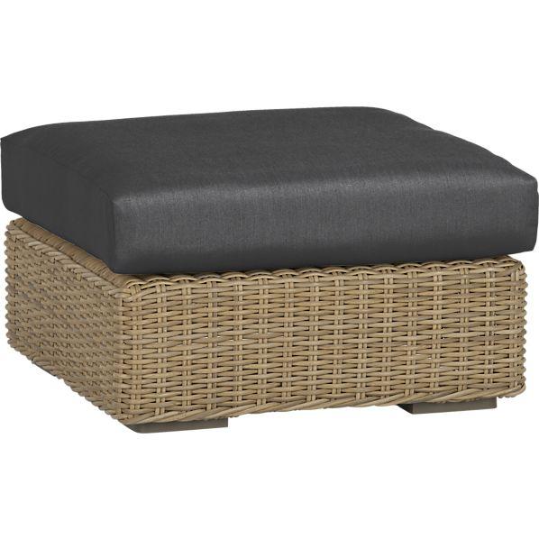 Newport Ottoman with Sunbrella ® Charcoal Cushion