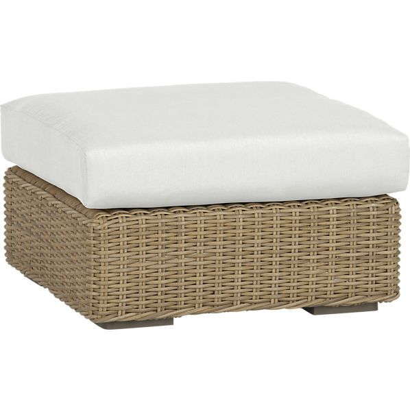 Newport Ottoman with Sunbrella ® White Sand Cushion