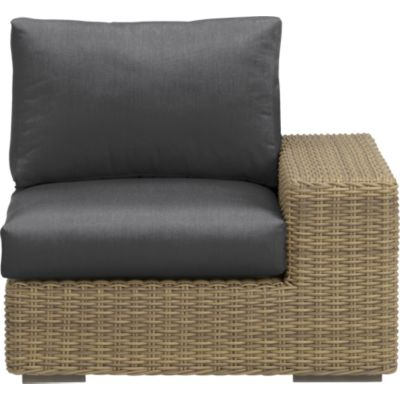Newport Modular Right Arm Chair with Sunbrella® Charcoal Cushions