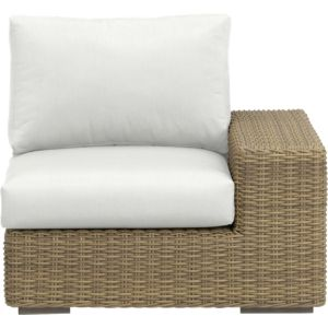 Newport Modular Right Arm Chair with Sunbrella® White Sand Cushions
