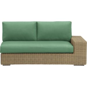 Newport Modular Right Arm Loveseat with Sunbrella® Bottle Green Cushions