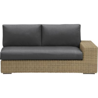 Newport Modular Right Arm Loveseat with Sunbrella® Charcoal Cushions