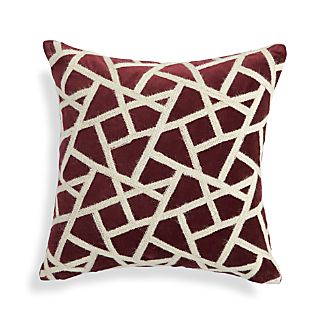 "Nikko Wine Red 16"" Pillow"