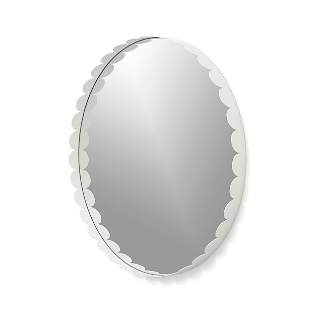 Ninna White Round Wall Mirror Crate And Barrel
