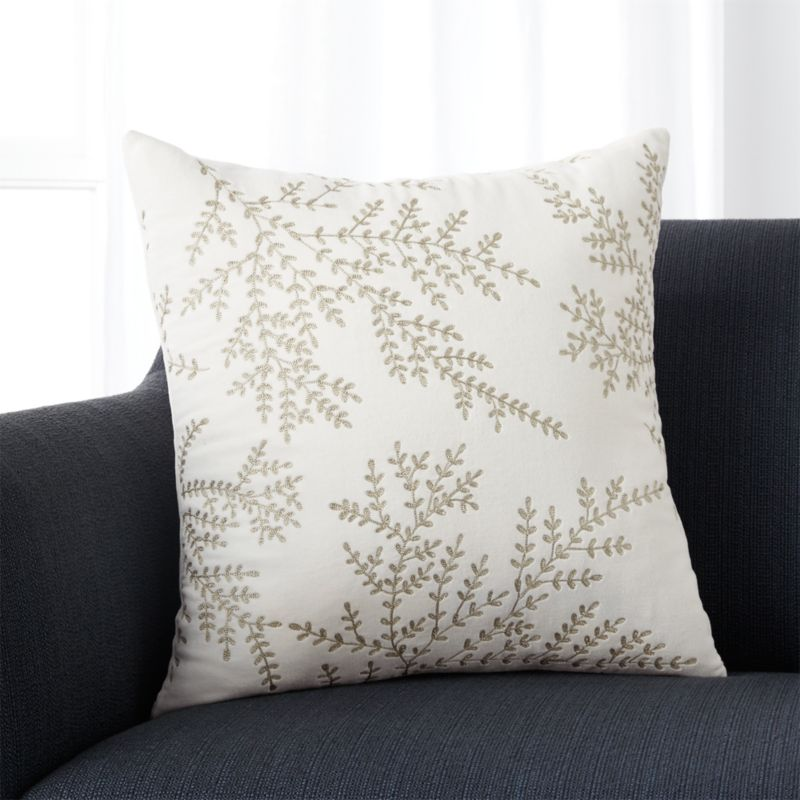 "Noelle 18"" Pillow with Feather-Down Insert"