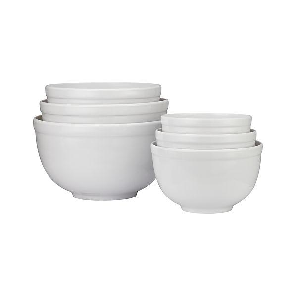 6-Piece Nonslip Nesting Mixing Bowl Set