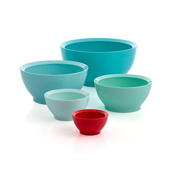 5-Piece Calibowl ® Aqua Sky Nonslip Nesting Mixing Bowl Set