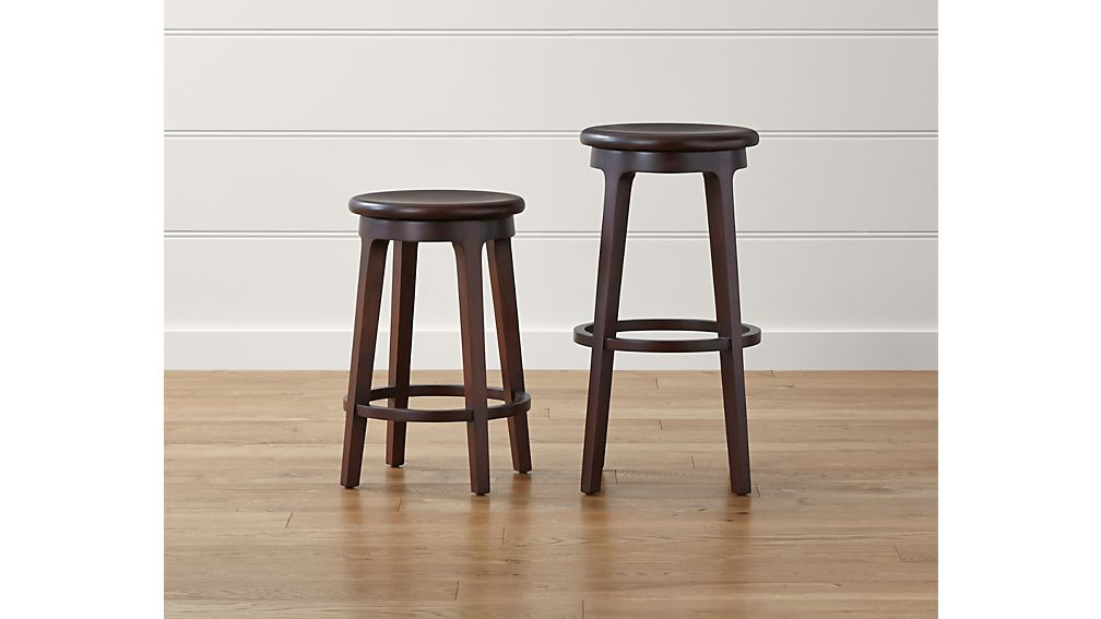 Nora Swivel Backless Counter Stool Crate And Barrel