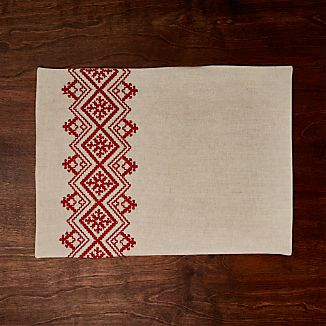 Nordic Embroidered Placemat