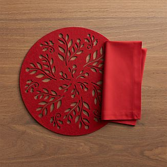 Nordic Felt Placemat and Fete Cherry Napkin