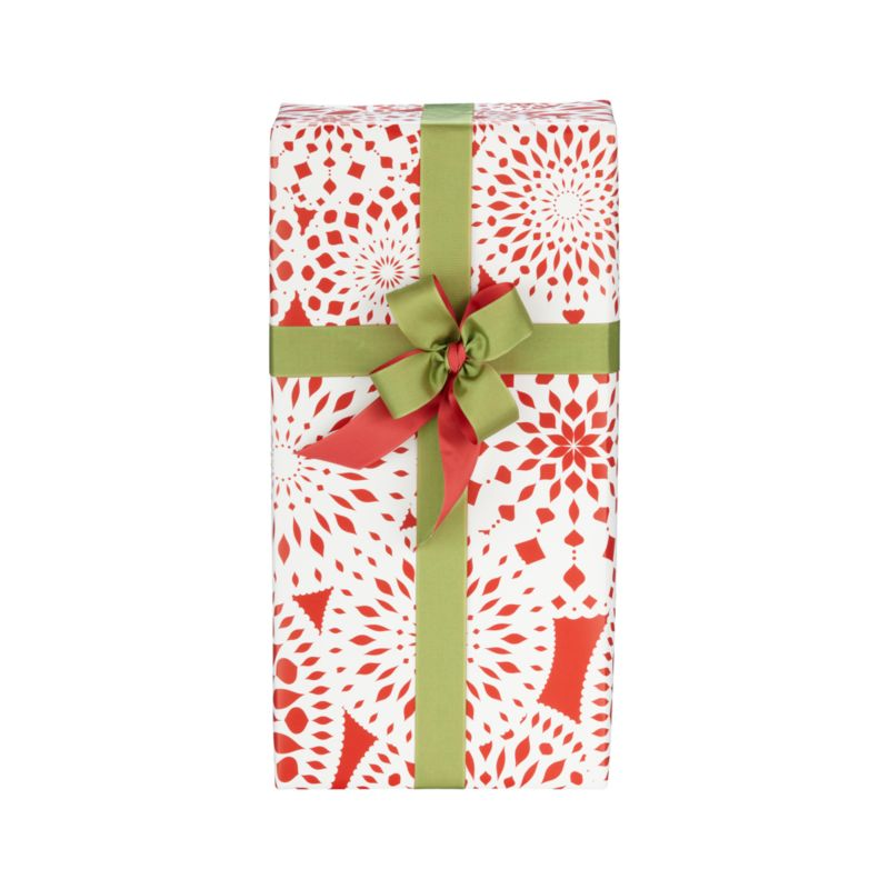 Scandinavian-inspired snowflakes spin white silhouettes on festive red. Heavy-duty paper wraps effortlessly with neat crisp edges for the picture-perfect package.  Our exclusive design is printed by Sullivan Paper Company, Inc., a Massachusetts-based printer distinguished for its high-quality, small-batch printing.<br /><br /><NEWTAG/><ul><li>Exclusive design</li><li>Heavy-duty paper</li></ul>