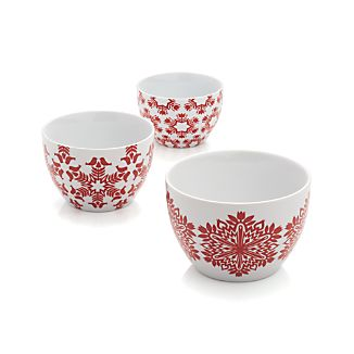 Set of 3 Nordic Snowflake Bowls