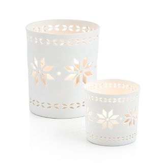 Nordic Snowflake Candle Holders