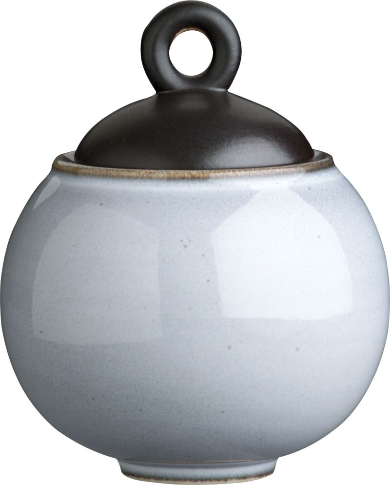 "Day or night, our Nuit glazed sugar bowl combines hues of twilight and midnight for a striking two-tone effect. Minimal modern styling allows the color drama to take center stage. Unique shapes are both casual and elegant; the inviting crackle glazing ensures that no two pieces are exactly alike. The satin finish on the lid has a ""cast iron"" appeal. Quality and integrity of design from one of France's original ceramic factories, Jars Ceramics. Nuit dinnerware also available.<br /><br /><strong>Please note:</strong> This pattern will be discontinued in December 2013.<br /><br /><NEWTAG/><ul><li>Unique shapes</li><li>Crackle glazing</li><li>Dishwasher- and microwave-safe</li><li>Made in France</li></ul>"