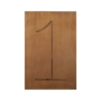 Brass Number 1 Wall Art