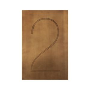 Brass Number 2 Wall Art