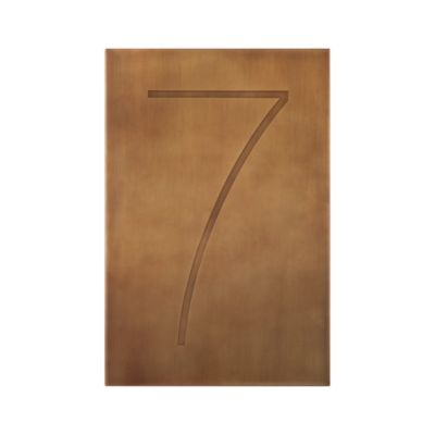 Brass Number 7 Wall Art