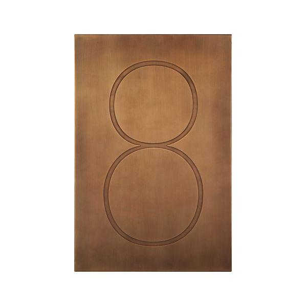 Brass Number 8 Wall Art