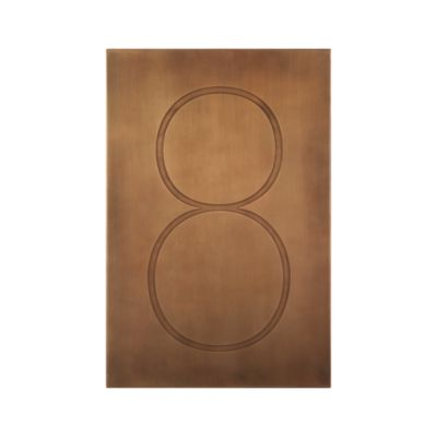 Brass Number 8 Wall Art