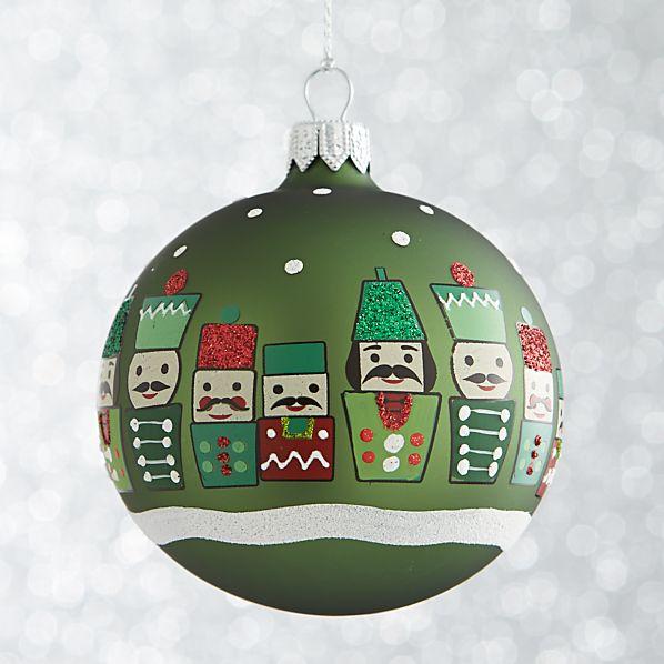 Green Nutcracker Ball Ornament