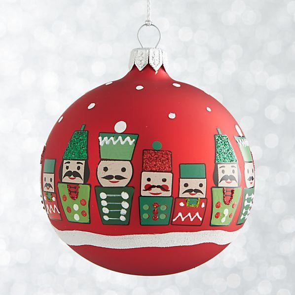 Red Nutcracker Ball Ornament