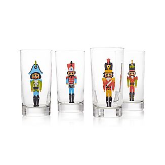 Set of 4 Nutcracker Glass Tumblers