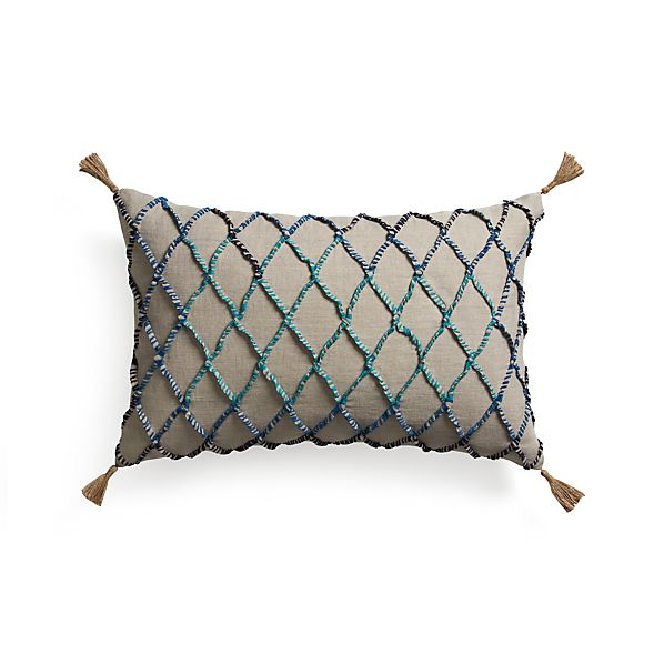 """Nyah 24""""x16"""" Pillow with Feather-Down Insert"""