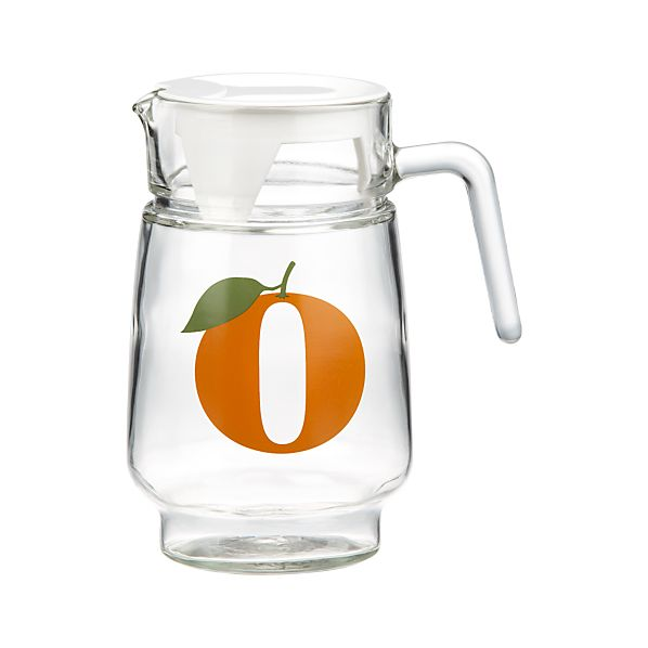 """O"" Orange Juice Pitcher"