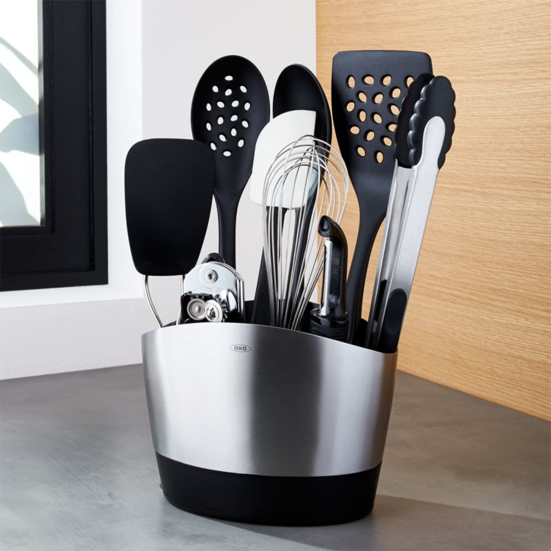 Oxo Utensil Set 10 Piece Holder With Tools Crate And Barrel